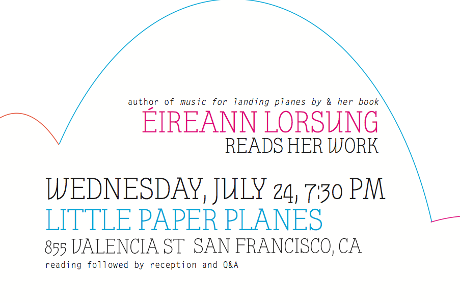 Éireann Lorsung reads | San Francisco | 24 July 2013