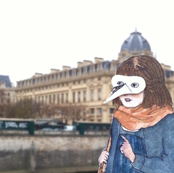 the birdwoman in Paris